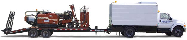 Drilling Rig and Polycon Truck